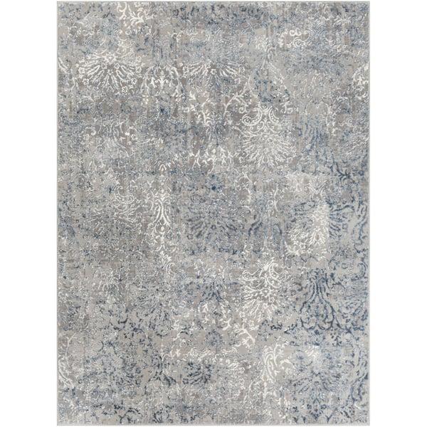 Charcoal, Denim, Light Grey Vintage / Overdyed Area Rug