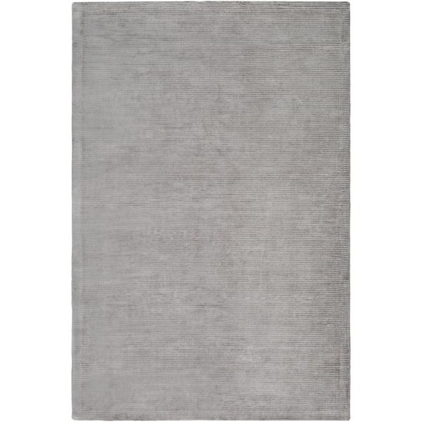 Medium Grey Solid Area Rug