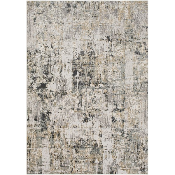 Charcoal, Beige, Grey Abstract Area-Rugs