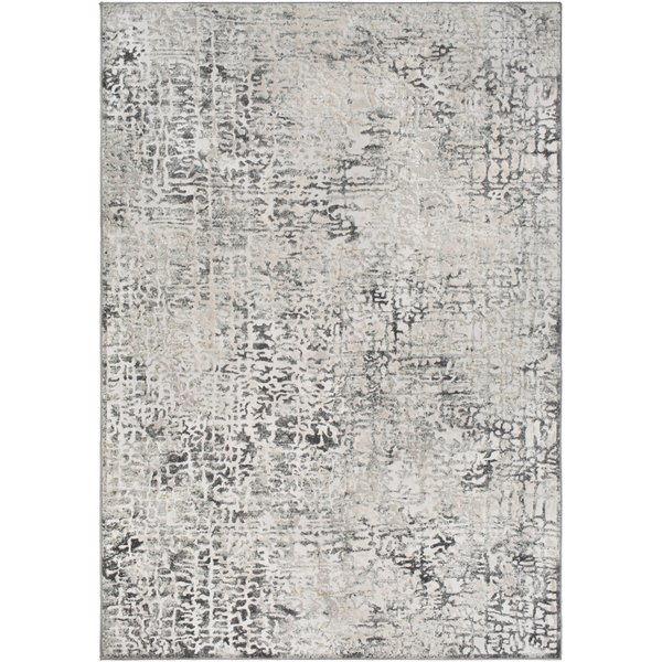 Silver, Beige, Charcoal Vintage / Overdyed Area-Rugs