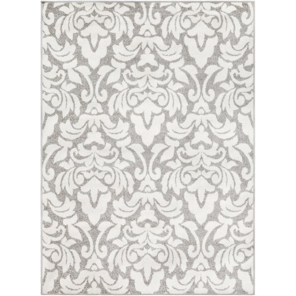 Grey, White Traditional / Oriental Area Rug