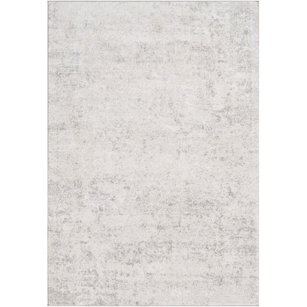 Light Grey, White Vintage / Overdyed Area Rug