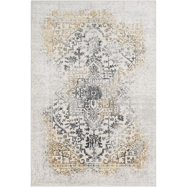 Charcoal, Mustard, Grey Vintage / Overdyed Area Rug