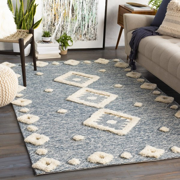 Navy, Ivory (BAN-2301) Moroccan Area-Rugs