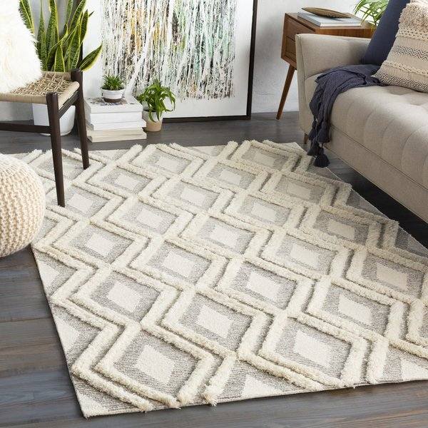 Camel, Ivory Contemporary / Modern Area-Rugs
