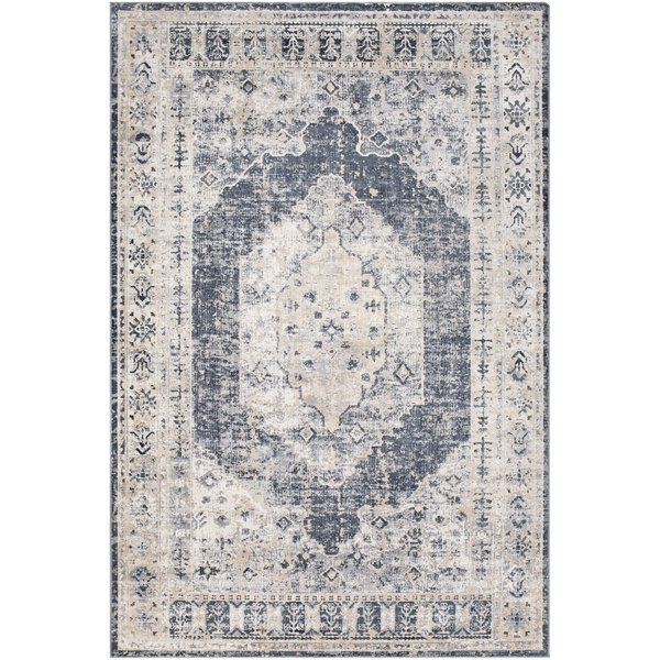 Grey, Charcoal, Black Vintage / Overdyed Area-Rugs