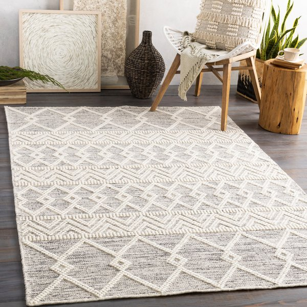 Charcoal, White (HYG-2305) Moroccan Area-Rugs