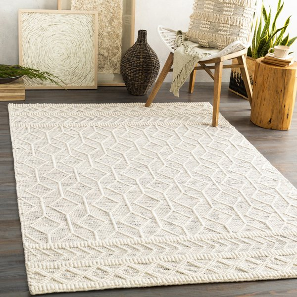 Charcoal, White (HYG-2307) Moroccan Area Rug