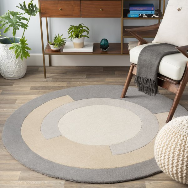 Medium Grey, Khaki (BCK-1004) Contemporary / Modern Area Rug