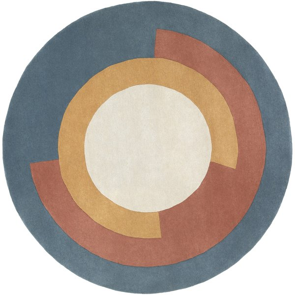 Teal, Camel, Ivory (BCK-1005) Contemporary / Modern Area Rug