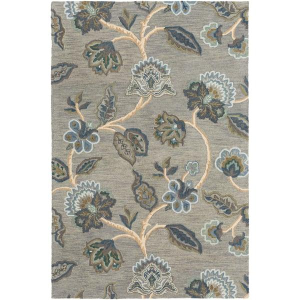 Sage, Teal, Olive Floral / Botanical Area Rug