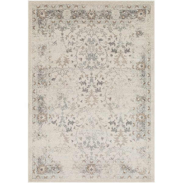 Beige, Charcoal, Brown Vintage / Overdyed Area Rug