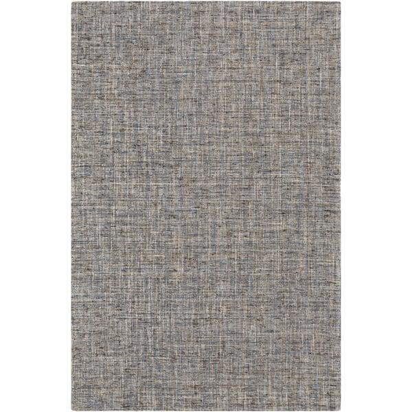 Brown, Grey, Blue Contemporary / Modern Area Rug