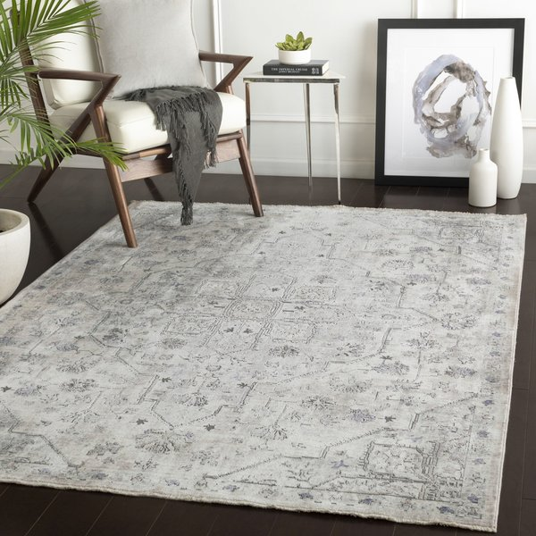 Taupe, Grey, Brown Vintage / Overdyed Area Rug