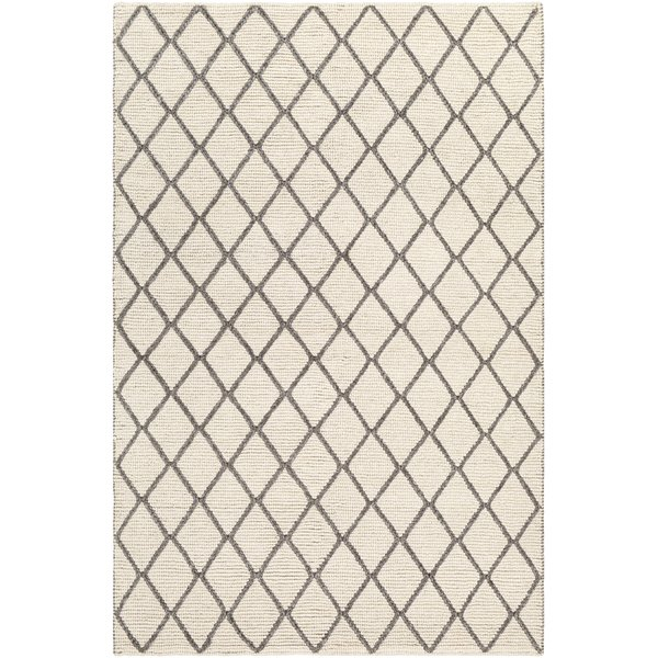 Charcoal, Cream Contemporary / Modern Area Rug