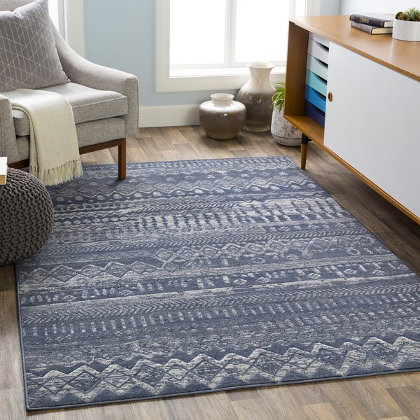 Navy (CIT-2361) Moroccan Area-Rugs