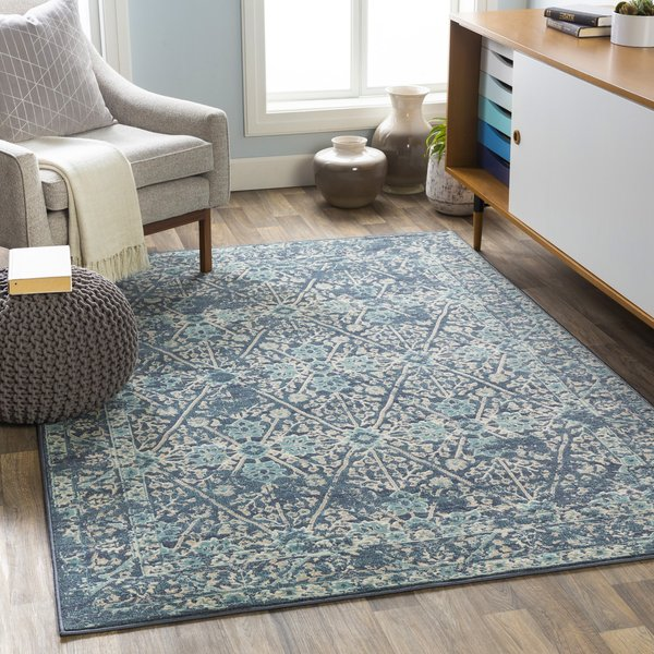 Navy (CIT-2368) Contemporary / Modern Area-Rugs