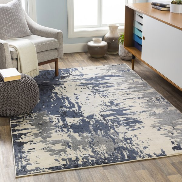 Navy (CIT-2374) Contemporary / Modern Area-Rugs
