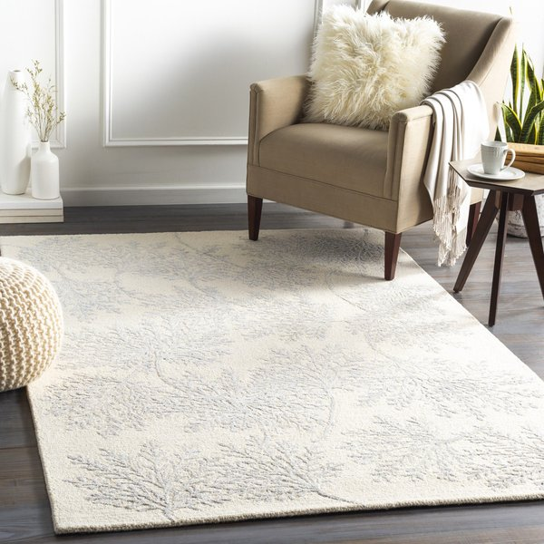 Cream (STR-2303) Floral / Botanical Area Rug