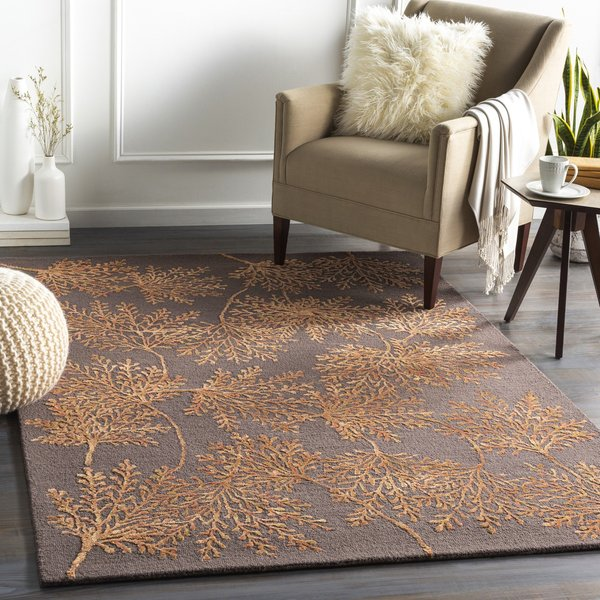 Orange (STR-2304) Floral / Botanical Area Rug
