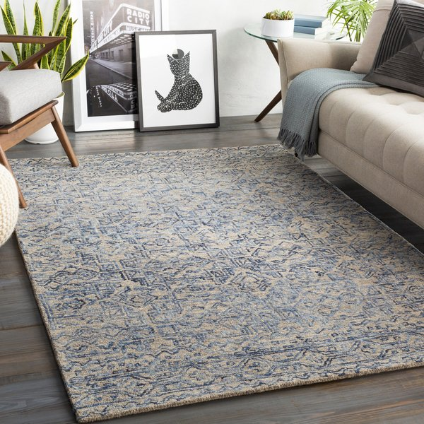 Blue (NCS-2308) Contemporary / Modern Area Rug