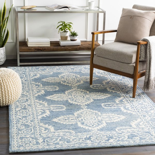 Pale Blue, Beige, Sky Blue (GND-2300) Traditional / Oriental Area Rug