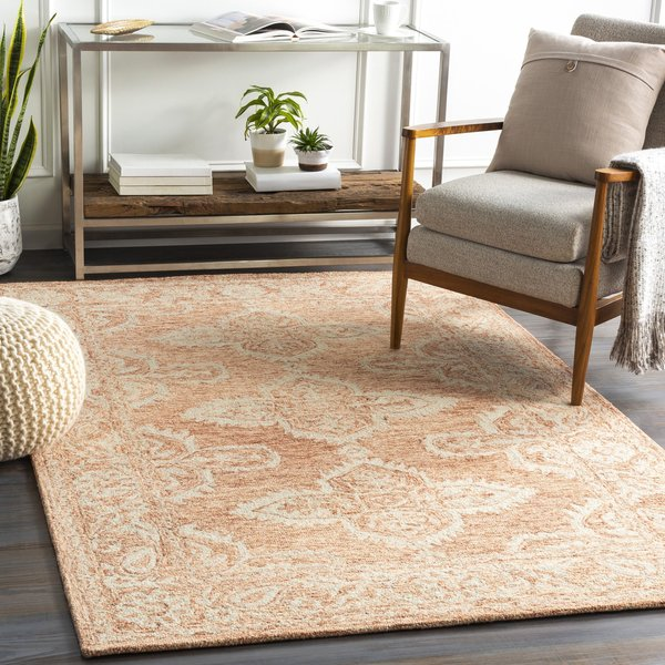 Rust, Peach, Khaki (GND-2301) Traditional / Oriental Area Rug
