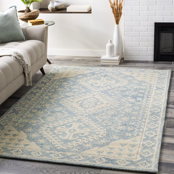 Pale Blue, Beige, Sky Blue (GND-2320) Traditional / Oriental Area Rug