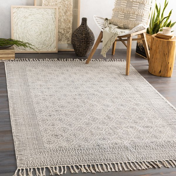 Black, Ivory Contemporary / Modern Area-Rugs