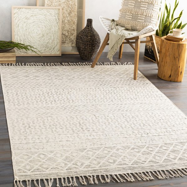 Charcoal, Beige Moroccan Area-Rugs