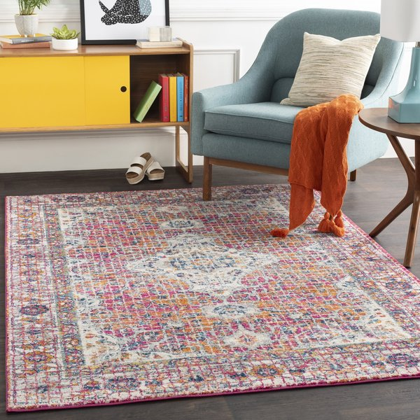 Pink (HAP-1086) Contemporary / Modern Area-Rugs