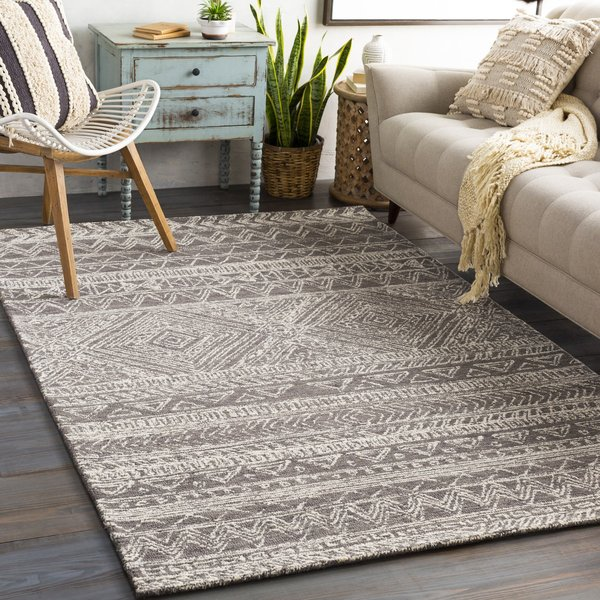 Charcoal, Cream (NCS-2311) Moroccan Area-Rugs
