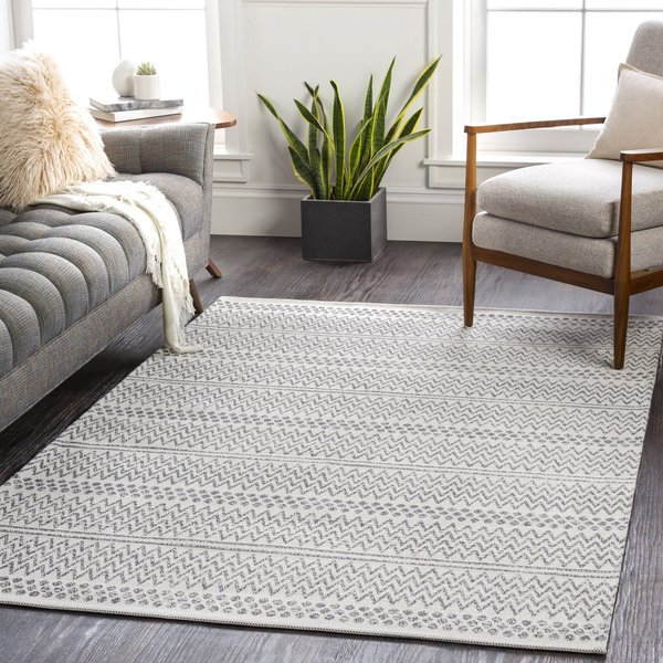 Taupe, Charcoal (LCS-2303) Bohemian Area Rug