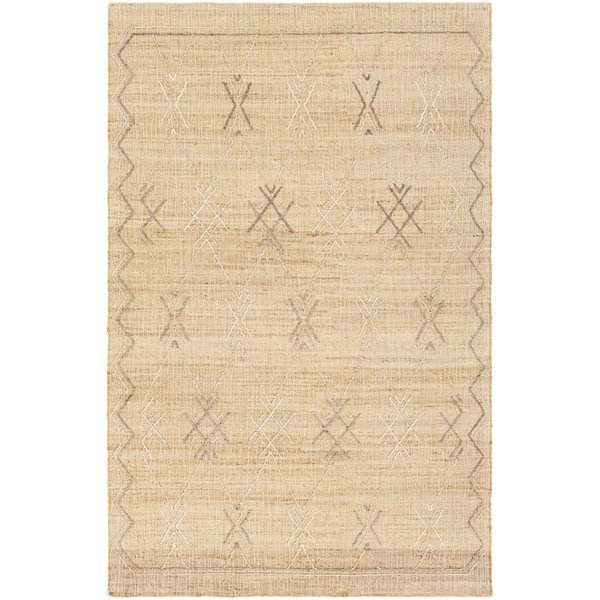 Wheat (ARE-2302) Moroccan Area Rug