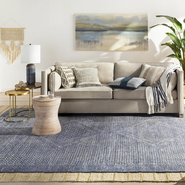 Denim, White, Taupe (LVN-2304) Moroccan Area-Rugs