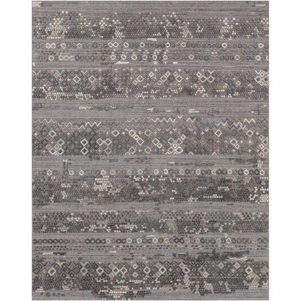Grey, Charcoal (MKL-2302) Vintage / Overdyed Area Rug