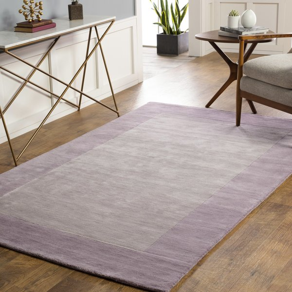 Lilac, Lavender (M-5470) Contemporary / Modern Area Rug