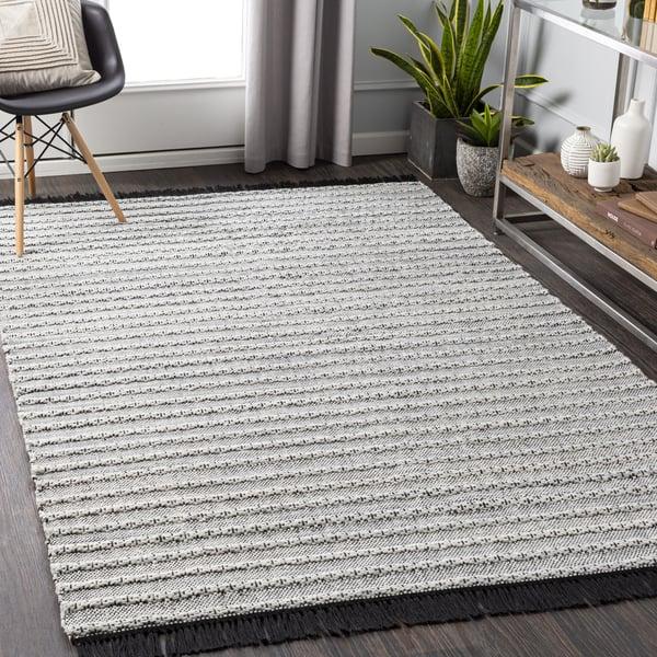 Black, Silver Grey, White (AZA-2310) Contemporary / Modern Area-Rugs