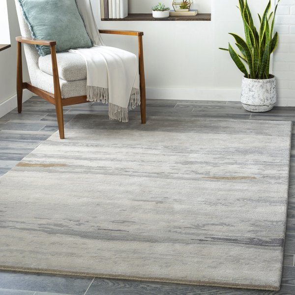 Light Grey, Ivory, Medium Grey (KVT-2303) Abstract Area Rug