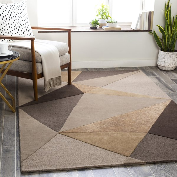 Taupe, Camel, Dark Brown (MCY-2303) Contemporary / Modern Area-Rugs