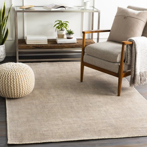 Taupe, Cream (AMF-2300) Solid Area Rug
