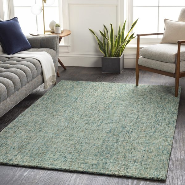 Sage, Cream, Teal (EIL-2303) Contemporary / Modern Area Rug