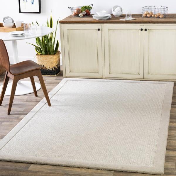 Light Grey, Cream (SNA-2301) Contemporary / Modern Area Rug