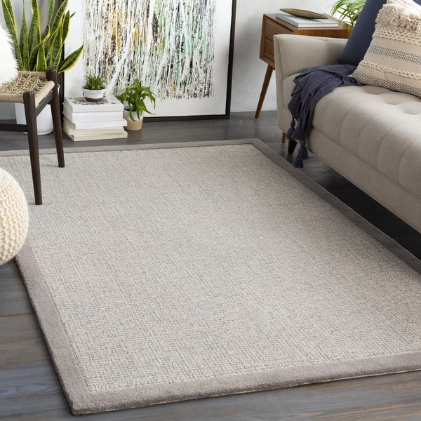 Medium Grey, Light Grey, Cream (SNA-2302) Contemporary / Modern Area Rug