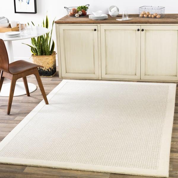 Cream, Light Grey (SNA-2305) Contemporary / Modern Area Rug
