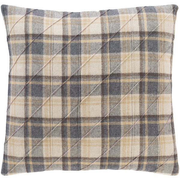Taupe, Charcoal, Tan (BRN-003) Country Pillow