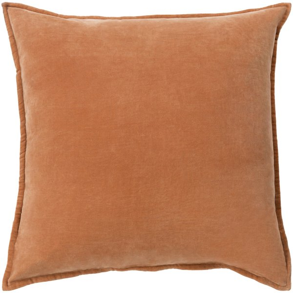 Burnt Orange, Camel (CV-002) Solid pillow