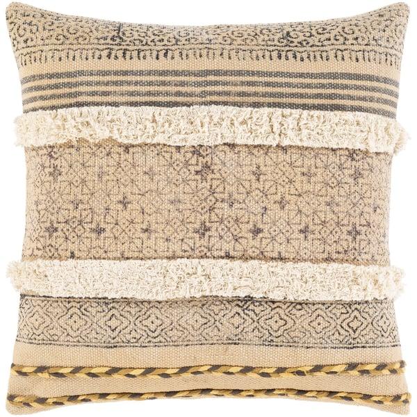 Beige, Tan, Dark Brown (DYA-001) Moroccan Pillow