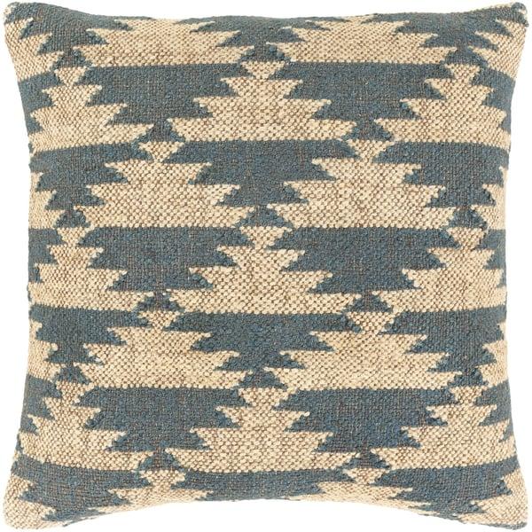 Beige, Teal, Khaki (GAD-004) Southwestern Pillow