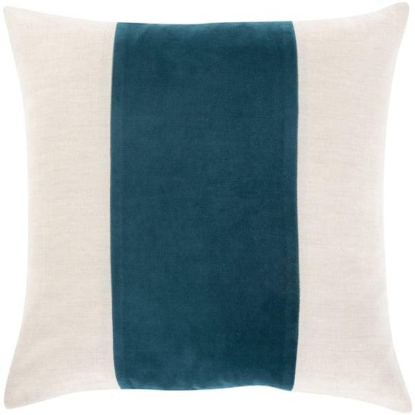 Ivory, Khaki, Teal (MZA-004) Contemporary / Modern Pillow